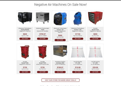 Air Machine Superstore - Website Screenshot