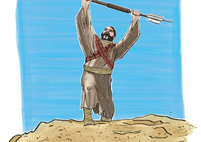 Dave as a Tusken Raider from Star Wars