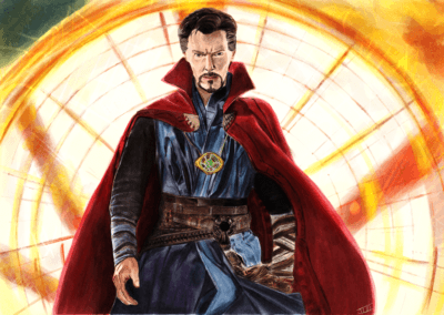 Digital Watercolor -Dr Strange