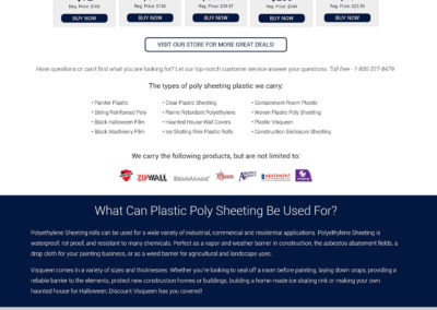 Discount Visqueen - Website Screenshot