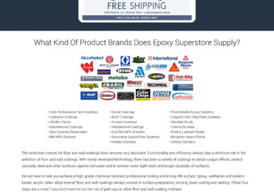 Epoxy Superstore - Website Screenshot