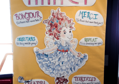 Watercolor - Fancy Nancy Door Art Reading Month