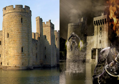 Medieval Ghost Rider Photo Composite (Before & After)