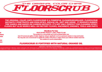 Floorscrub Bottle Product Label