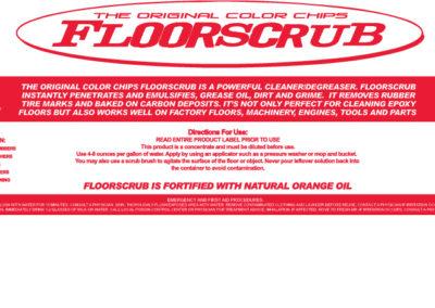 Floorscrub Bottle Product Label