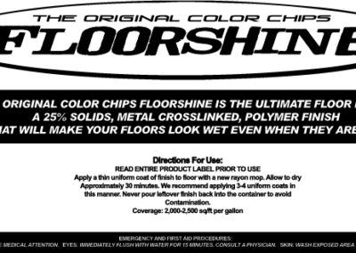 Floorshine Bottle Product Label