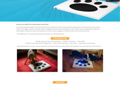 Game of Paws Website Screenshot
