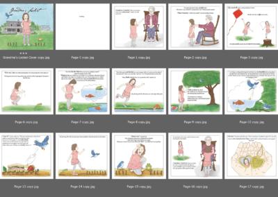 Grandma's Locket Children's Book Pages