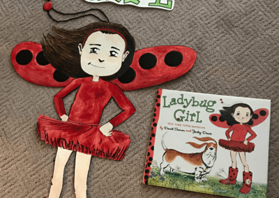 Ladybug Girl Reading Month Door Art