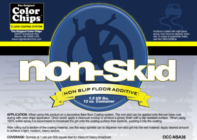 Nonskid Product Label