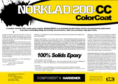 Norklad 200 CC Product Label