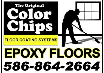 Original Color Chips Yard Sign