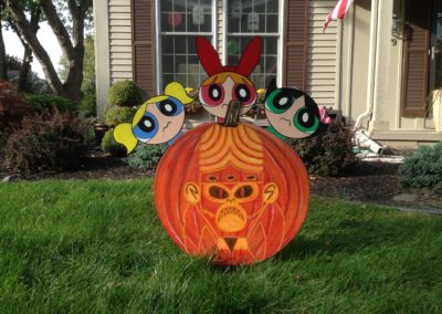 Powerpuff Girls - Wooden Halloween Yard Decoration 2016