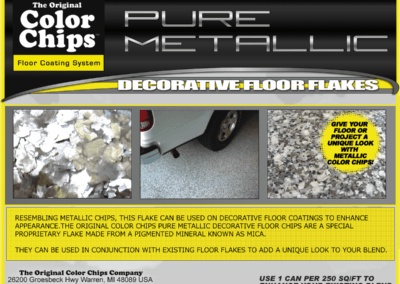 Pure Metallic Flakes Can Label