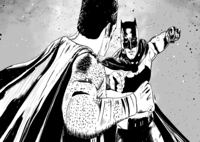 Digital - Batman vs Superman (Black & White)
