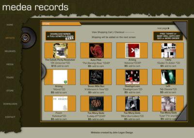 Medea Records Website Screenshot