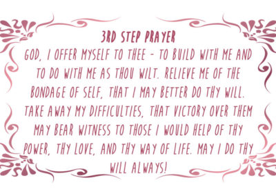 3rd Step Prayer Card