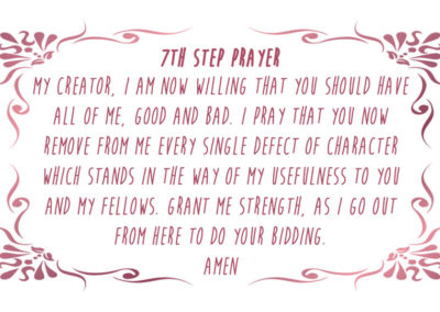 7th Step Prayer Card
