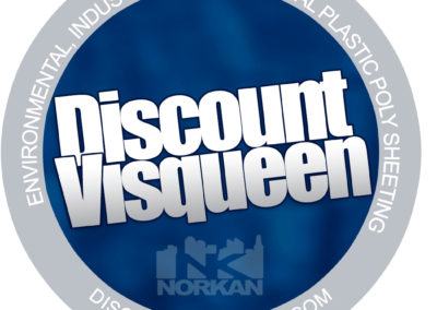 Discount Visqueen Logo - Circle Sticker