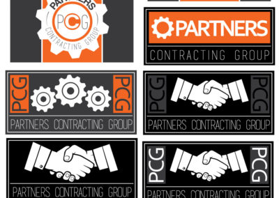 Partners Contracting Group Logo Mockups