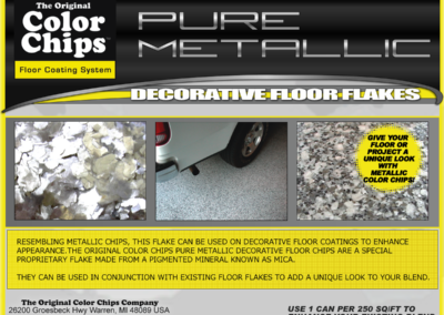 Pure Metallic Mica Floor Flakes Can Label