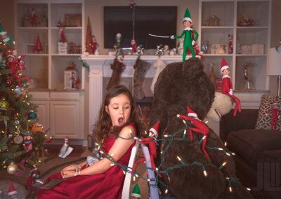 Christmas Card Composite (2018) Elf on the Shelf Takeover