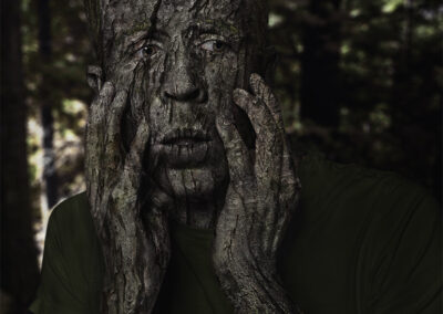 Tree Man Photo Manipulation Composite