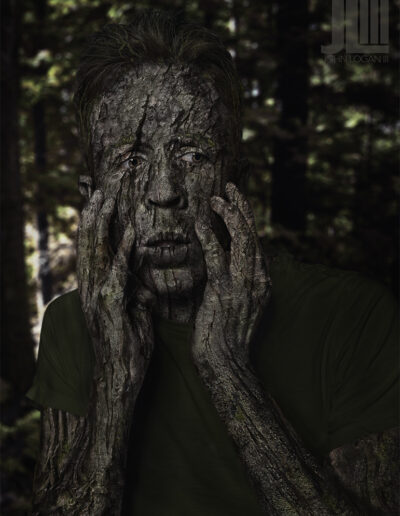 Tree Man Photo Manipulation Composite